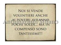 イタリア語パネル 貧しい人たちにも喜んで… NOI SI VENDE... 【カラー・ブラック】