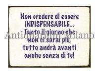 イタリア語パネル 自分が必要不可欠だなんて… Non credere di essere INDISPENSABILE... 【カラー・ブルー】