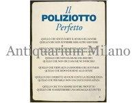 イタリア語パネル 完璧な警官 IL POLIZIOTTO Perfetto 【カラー・ブルー】
