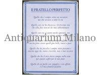 イタリア語パネル 完璧な兄弟 IL FRATELLO PERFETTO 【カラー・ブルー】