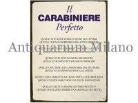 イタリア語パネル 完璧な国防省警察官 IL CARABINIERE PERFETTO 【カラー・ブルー】