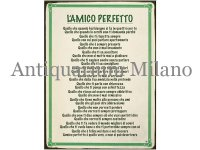 イタリア語パネル 完璧な友達 L'AMICO PERFETTO 【カラー・グリーン】