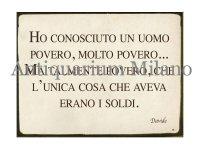 イタリア語パネル 極貧の人と知り合った… HO CONOSCIUTO UN UOMO... 【カラー・イエロー】