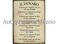 イタリア語パネル お金と言うものは… IL DENARO 【カラー・イエロー】