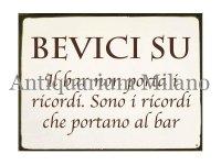 イタリア語パネル 忘れるために飲め BEVICI SU 【カラー・イエロー】