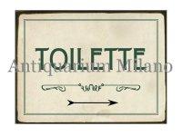 イタリア語パネル お手洗い TOILETTE 【カラー・グリーン】