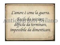 イタリア語パネル 愛とは戦争のようなものである… L'amore e' come la guerra 【カラー・イエロー】