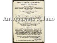 イタリア語パネル 会社の新しい規律 NUOVE DISPOSIZIONI AZIENDALI 【カラー・イエロー】