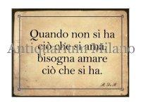 イタリア語パネル 愛するものをもっていないときは… Quando non si ha... 【カラー・イエロー】