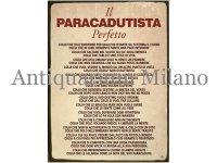 イタリア語パネル 完璧なパラシュート降下者 IL PARACADUTISTA Perfetta 【カラー・レッド】