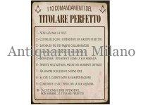 イタリア語パネル 完璧なボスの10か条 I 10 COMANDANTI DEL... 【カラー・イエロー】