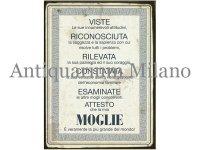 イタリア語パネル 妻に捧げる証明書 MOGLIE 【カラー・イエロー】