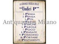 イタリア語パネル 11のP Undici P 【カラー・イエロー】