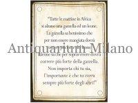 イタリア語パネル 毎朝、アフリカでは… Tutte le mattine in Africa... 【カラー・イエロー】