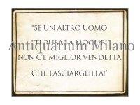 イタリア語パネル もし女房を他の男に奪われたなら… SE UN ALTRO UOMO TI RUBA LA MOGLIE... 【カラー・イエロー】