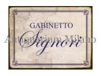 イタリア語パネル お手洗い紳士用 GABINETTO SIGNORI 【カラー・ブルー】