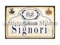 イタリア語パネル お手洗い紳士用 1898 GABINETTO SIGNORI 【カラー・ブルー】