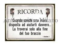 イタリア語パネル 覚えておけ… RICORDA 【カラー・イエロー】