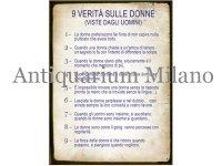 イタリア語パネル 女たちの9つの本性 9 VERITA' SULLE DONNE 【カラー・ブルー】