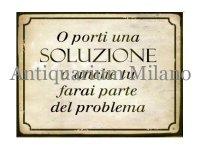 イタリア語パネル 解決するか、それとも… O porti una SOLUZIONE... 【カラー・イエロー】