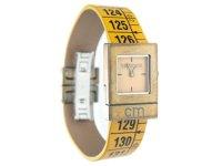 イタリアンレザーを使ったメジャー・ブレスレット腕時計 レザー Classic Yellow 【カラー・オレンジ】
