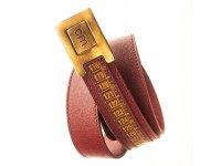 Il Centimetroのメンズベルト Cintura Primalinea LongIsland Red 115cm【レッド】