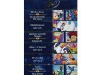 イタリア語などで観るディズニー「童話コレクション」DVD 6枚組【A2】【B1】