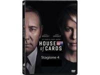 イタリア語などで観るケヴィン・スペイシーの「ハウス・オブ・カード 野望の階段 シーズン4」 DVD 4枚組  【B2】【C1】