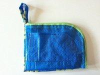 IKEARTE イタリア製イケアのガジェット ナイロントラベルポーチ 【カラー・ブルー】