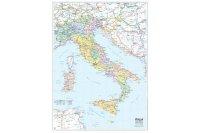 イタリア マップ 97 x 134 cm