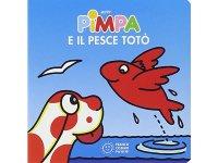 イタリア語で絵本、ピンパを読む Pimpa e il pesce Toto' 対象年齢1歳以上【A1】