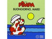 イタリア語で絵本、ピンパを読む Pimpa. Buongiorno, mare! 対象年齢0歳以上【A1】