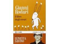 イタリアの児童文学作家ジャンニ・ロダーリのオーディオブック「Il libro degli errori letto da Lunetta Savino」【B1】