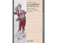 楽譜 IL BARBIERE DI SIVIGLIA - THE BARBER OF SEVILLE - Ricordi Opera Vocal Series - ROSSINI - RICORDI