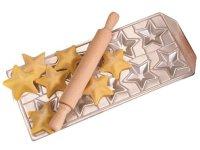 手打ちパスタ用 ラビオリ用型 星型&麺棒 10個分