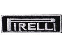 イタリア 刺繍ワッペン PIRELLI【カラー・ホワイト】【カラー・ブラック】