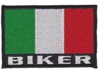 イタリア 刺繍ワッペン イタリア国旗 BIKER ITALY【カラー・ホワイト】【カラー・レッド】【カラー・グリーン】
