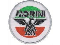 イタリア 刺繍ワッペン Moto MORINI 【カラー・ホワイト】【カラー・レッド】【カラー・グリーン】