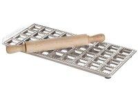 手打ちパスタ用 トルテッリ用型 四角&麺棒 36個分