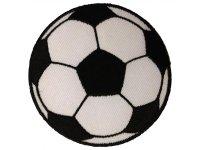 刺繍ワッペン サッカーボール【カラー・ホワイト】【カラー・ブラック】