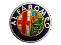 イタリア 刺繍ワッペン ALFA ROMEO 【カラー・イエロー】【カラー・ホワイト】【カラー・レッド】【カラー・グリーン】【カラー・ブルー】