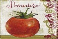 アンティーク風サインプレート イタリア Pomodoro トマト 30x20cm【カラー・マルチ】