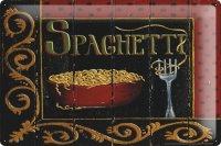 アンティーク風サインプレート イタリア スパゲッティ Spaghetti 30x20cm【カラー・マルチ】
