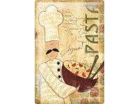 アンティーク風サインプレート イタリア パスタ Pasta 30x20cm【カラー・マルチ】