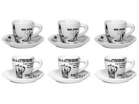 エスプレッソコーヒーカップ 6客セット Bialetti(ビアレッティ)CAROSELLO【カラー・ホワイト】【カラー・ブラック】