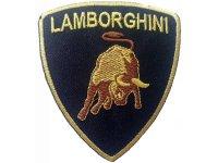 イタリア 刺繍ワッペン LAMBORGHINI 【カラー・ブラック】【カラー・イエロー】
