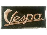 イタリア 刺繍ワッペン Vespa【カラー・グリーン】