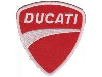 イタリア 刺繍ワッペン DUCATI 【カラー・ホワイト】【カラー・レッド】