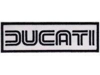 イタリア 刺繍ワッペン DUCATI 【カラー・ブラック】【カラー・ホワイト】