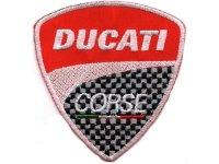 イタリア 刺繍ワッペン DUCATI 【カラー・グレー】【カラー・レッド】【カラー・ホワイト】
